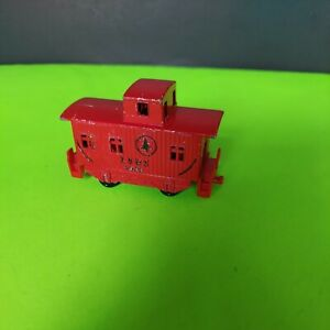 "Red Train Car Pencil Sharpener Metal Vintage 3"" LS & S 4349"