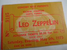 LED ZEPPELIN__Original__1973__CONCERT TICKET STUB___LARGEST AUDIENCE RECORD !!!