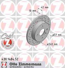 Disque de frein arriere ZIMMERMANN PERCE 430.1484.52 OPEL ASTRA H 1.7 CDTI 80ch