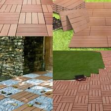 Set of 6 Patio Tiles WPC klickfliesen Tile Balcony Tile Wooden Tiles plastic