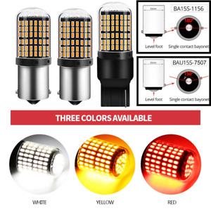 2x 1156 BA15S 7507 BAU15S 7440 Car Reverse Turn Signal Light 24W 144LEDs CANBUS
