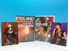 DVD FTISLAND Tour 2010 So today 2011 BUDOKAN with Honggi Postcard SET