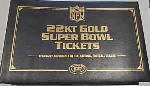 Willabee & Ward NFL 22kt Gold Super Bowl Tickets Super Bowl 1 to Super Bowl 35