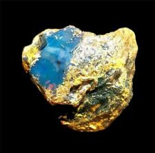 75 G. PARTIALLY POLISHED DOMINICAN  BLUE AMBER ROUGH  STONE  SPECIMEN