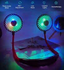 LED Hanging Neck Fan Travel USB Charging Portable Lazy Creative Sports Fan Tool
