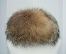 LEDER real fur fox fur hat Russian Ushanka/Cossack style - size approx 23 cms