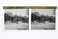 Pau Jardins Francia Foto Stereo T2L2n Placca Da Lente Vintage
