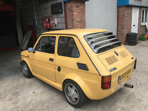Fiat 126 AIRCOOLED CUSTOM MADE METAL REAR WINDOW LOUVRES - BARE METAL