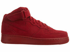 Nike Air Force 1 Mid '07 Mens 315123-609 Gym Red Suede Athletic Shoes Size 9.5
