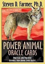 Power Animal Oracle Cards By Steven D Farmer PhD 44 Card Deck Familiar Wicca