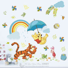 Winnie The Pooh Wall Stickers For Kids Nursery Decals Cartoon Home Decor Art DIY