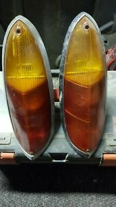 VW Type 3 flat tail lights complete