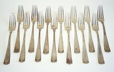 14Pc US Sterling Silver Large Dinner Fork Lot Etruscan Pat by Gorham (BrB)#9