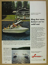 1968 Larson VOLERO 197 Daycruiser Boat color photo vintage print Ad