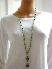 Handgefertigte Modeschmuck-Halsketten & -Anhänger aus Glas mit Beauty-Thema