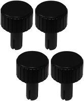 4 boutons de potentiomètre pour axe moleté 6mm Ø22x12mm. Couleur: noir