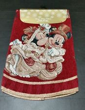 DISNEY PARKS VICTORIAN MICKEY AND MINNIE MOUSE RED GOLD 48 INCH TREE SKIRT