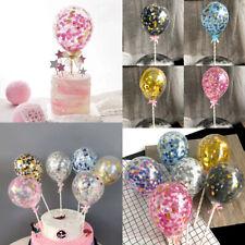 5''Confetti Foil Latex Balloon Set Round Birthday Party Wedding Cake Decor