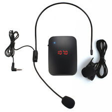 Wireless Clip On Lapel Microphone Transmitter Set Collar Tour Guide Mic Gracious