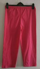JH562)3XL pink leggings Futuro Fashion cropped stretchy w elasticated waist