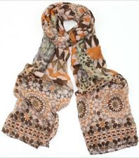 Ambesonne Tan and Brown Headscarf Floral Hijab Scarf