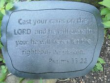 Plastic religious plaque plastic mold Psalms 55:22 Cast your cares on the  Lord
