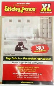 Sticky Paws Cat Scratch deterrent Control Sheets by Pioneer Pet anti scratch XL