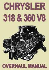 CHRYSLER 318 & 360 V8 ENGINE MANUAL