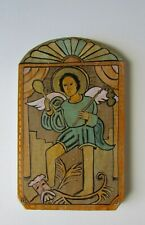 New Mexico Folk Art Retablo Archangel San Miguel