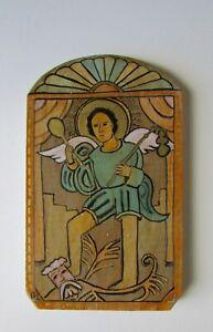 New Mexico Folk Art Retablo Archangel San Miguel