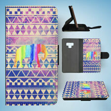SAMSUNG GALAXY NOTE 9 FLIP CASE WALLET COVER|AFRICAN TRIBAL AZTEC ELEPHANT #2