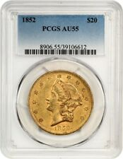 1852 $20 PCGS AU55 - Early Type One Double Eagle - Early Type One Double Eagle