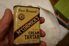 Vintage Mccormicks Bee Brand Cream Tarter 2 Oz. Baltimore Md.