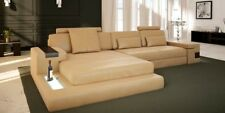 Leder LForm Wohnlandschaft Couch Big XXL Sofa Polster Ecke Garnitur Stoff Textil