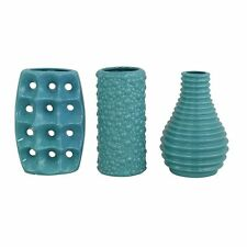 Aspire Home Accents 9260 Mia Teal Ceramic Vases (Set of 3)
