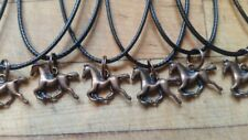 Lot of 10 necklaces ☆ birthday party favors ☆ HORSES HORSE PONIES ☆COPPER