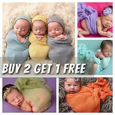 Soft Stretch Knit Crochet Wrap Cocoon Swaddle Baby Newborn Photography Prop