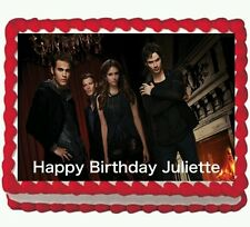 Vampire Diaries Party Birthday Edible Cake Topper 1/4 frosting icing sheet