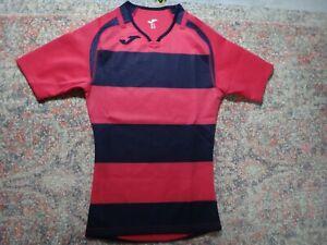 Joma Girl's Youth XL Hot Pink/Black Stripes Football/Soccer Shirt/Jersey~NWT