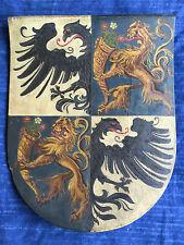 Hölzernes Wappenschild, UNBEKANNTE ADELSFAMILIE, geviert, wohl 18./19. Jhdt.