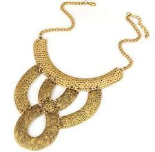 Gold Alloy Aztec Plated Look Necklace