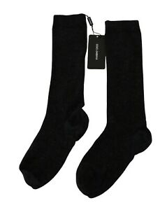 DOLCE & GABBANA Socks MId-Calf Gray Wool Stretch Women Accessory S. S