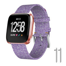 Replacement Wrist Strap Nylon Fabric Watchband for Fitbit Versa Smart Watch Band