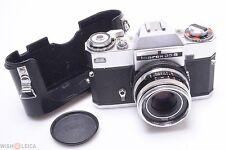 ZEISS IKON 35MM SLR ICAREX 35 S W/ TESSAR 50MM 2.8, HALF CASE & CAP