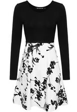 Size Xl 16 Floral A Line Dress Black And White Bnwt