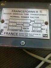 Franceformer 7530 W1 Used Neon Transformer Made By Scott Fetzer Company