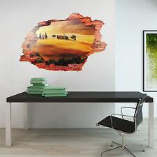Afficher l'italie art 3D mural décor maison décoration autocollant mural toscane 90cm x 60cm