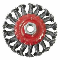 "4"" 100mm Twist Knot Flat Wire Wheel Rotary Cup Brush M14 Thread Angle Grinder"