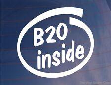 B20 à l'intérieur de Nouveauté Voiture / Fenêtre / AUTOCOLLANT-Idéal Pour Honda Prelude / Accord