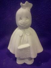 """Pumpkin Ghost 8"""" ceramic bisque ready to paint"""